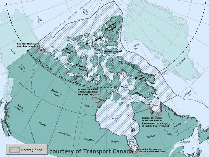Map of Canadian Arctic