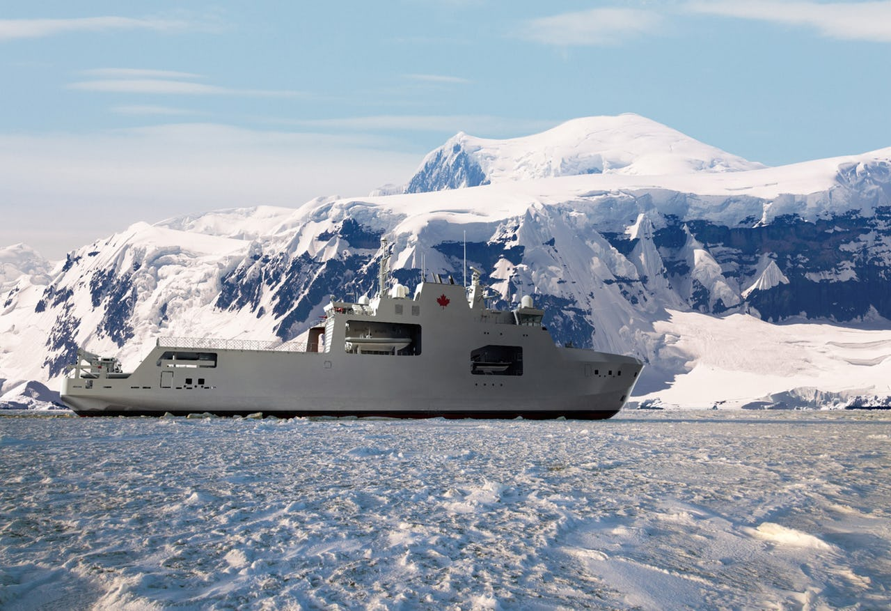 Image of vessel in Arctic scenery