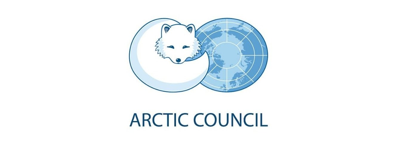 Arctic fox and Arctic map on logo