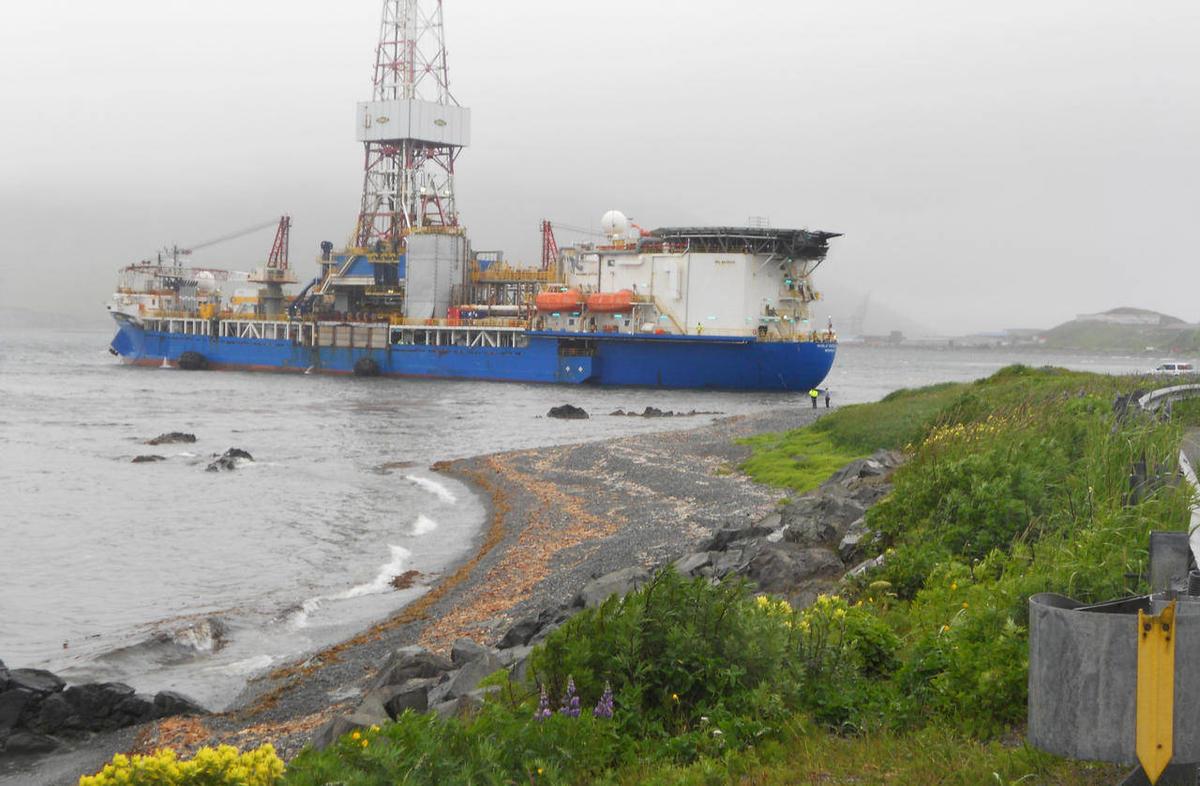 Vessel drifts near shore