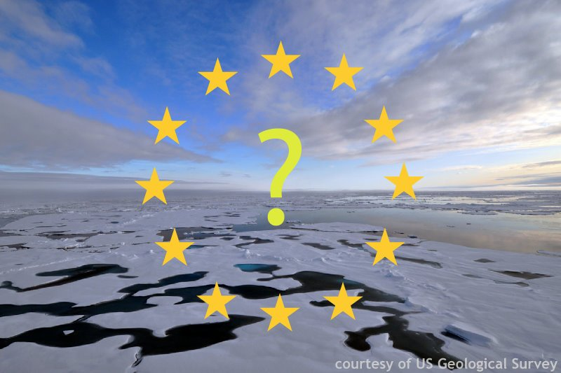 EU stars and question mark over Arctic ice