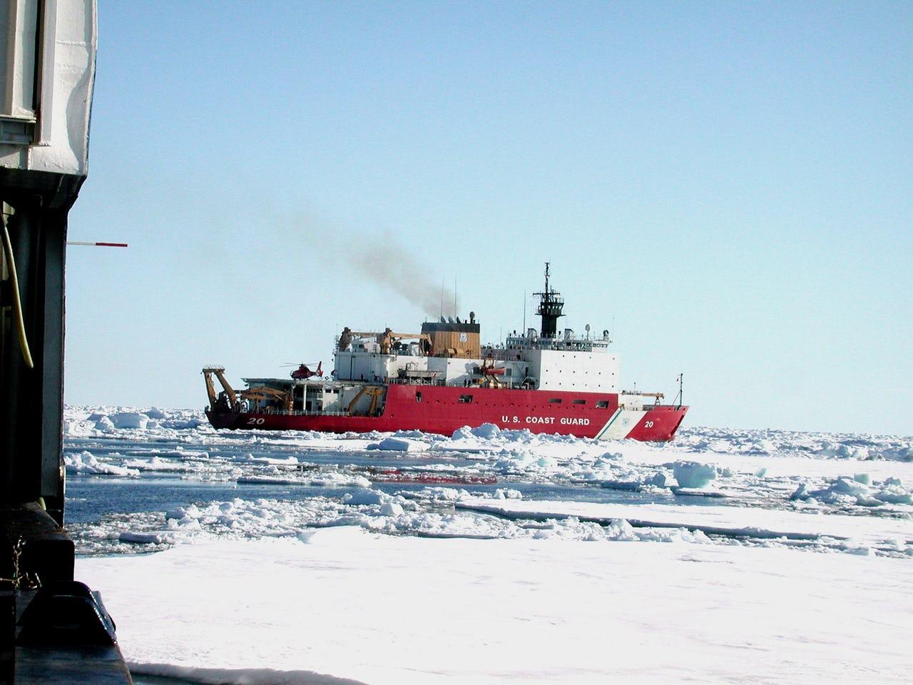 Vessel navigating through ice