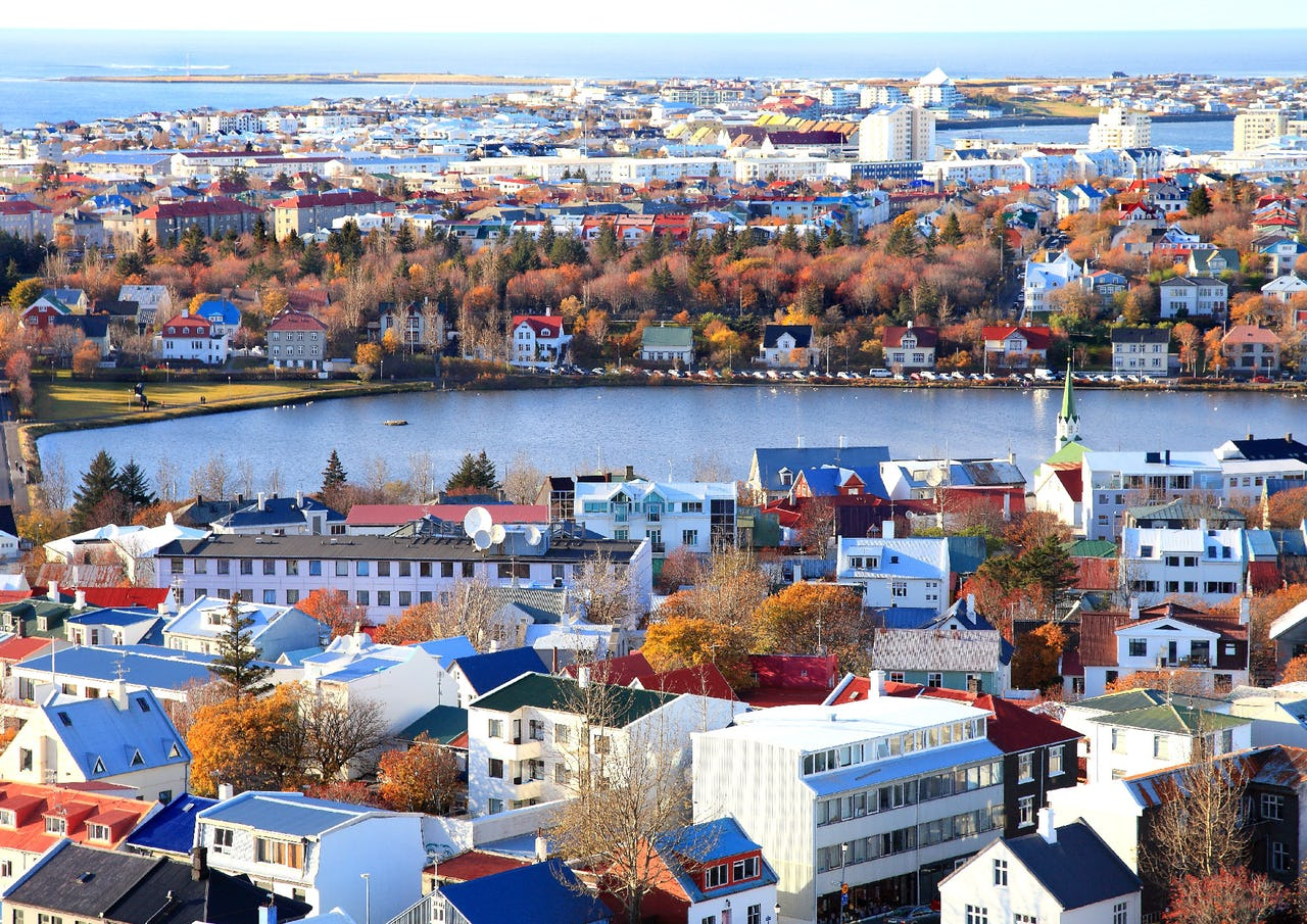 Ariel view on Reykjavik