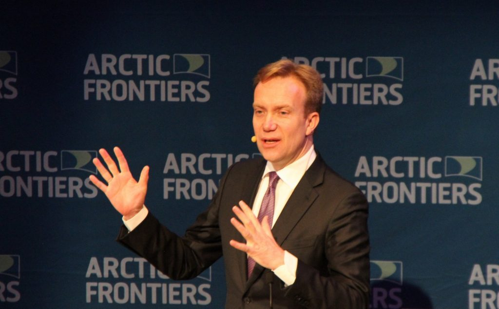 Picture of Børge Brende at Arctic Frontiers 2015