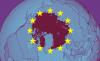 EU flag covering Arctic
