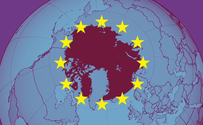 EU flag covering Arctic