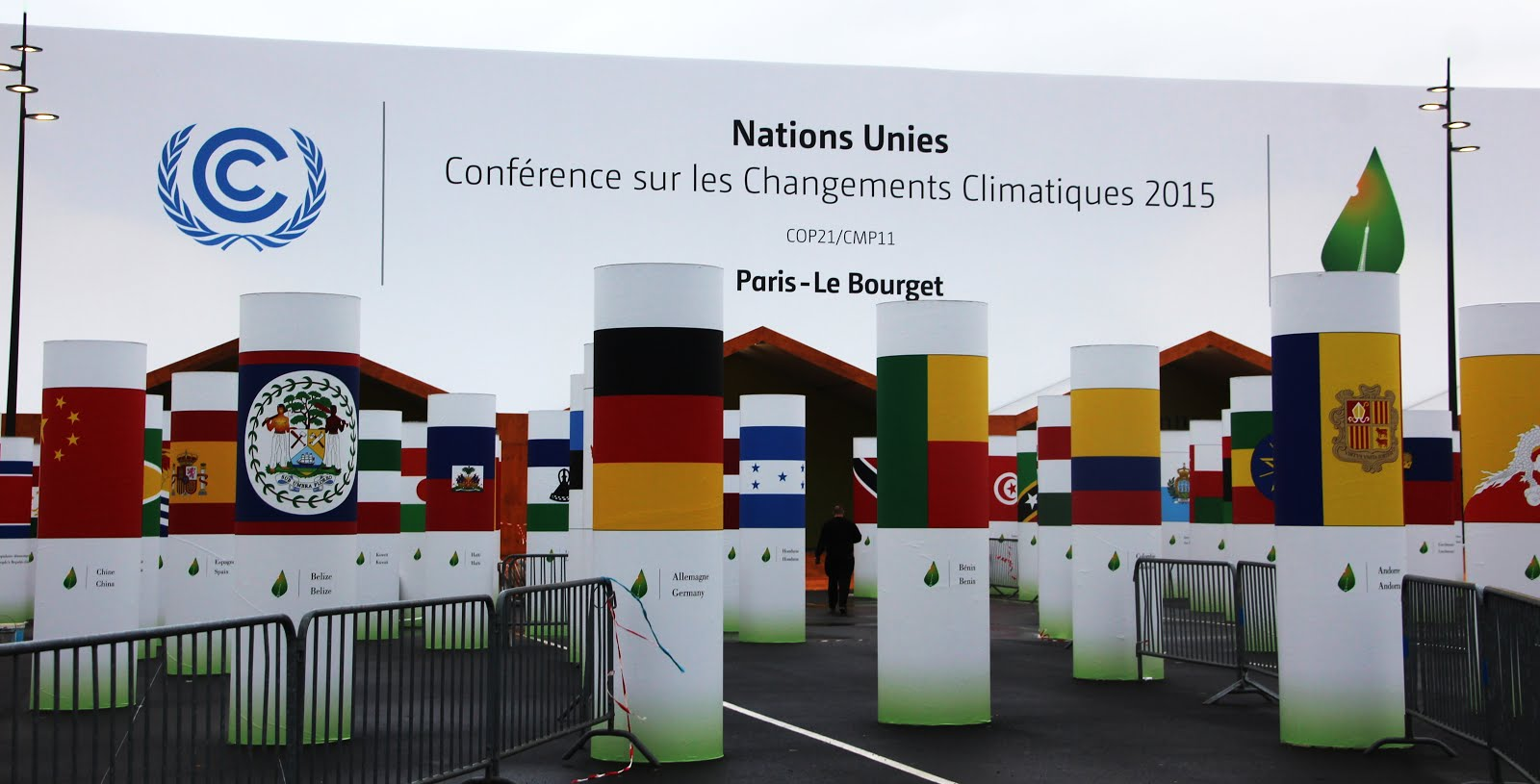 Flags at an entrance