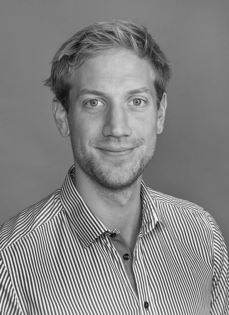 Black and white picture of Andreas Østhagen