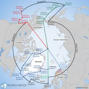 Map of the Arctic Search and Rescue zones