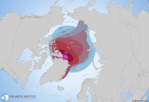 Map of sea ice extent history
