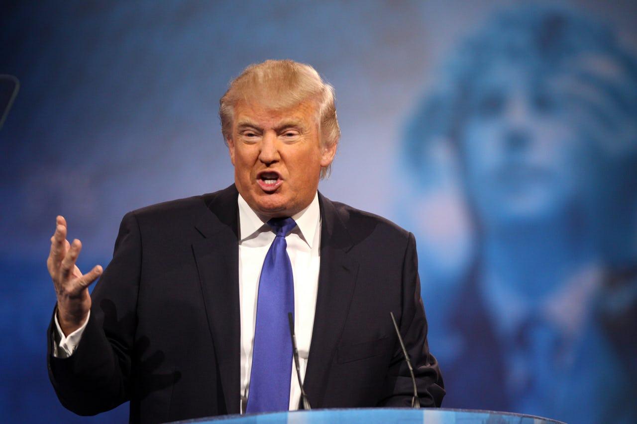 Trump giving speech
