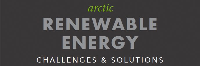 Infographic header on wind power in the Arctic.