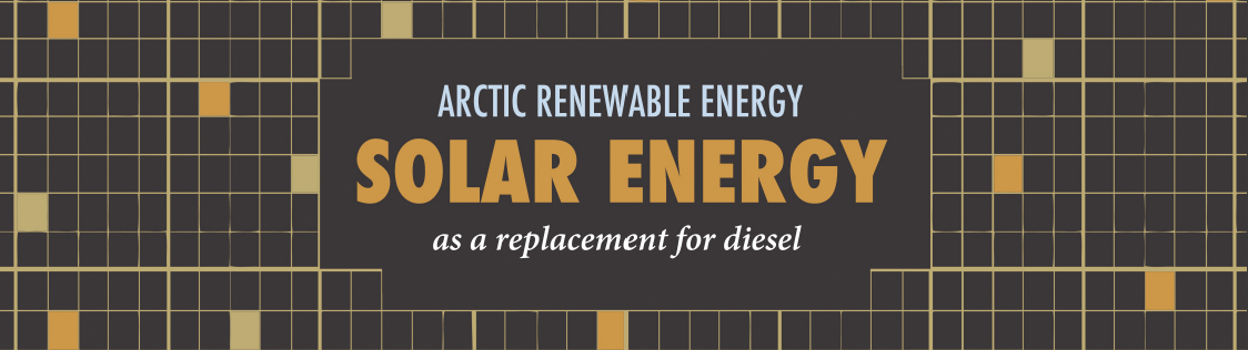 Infographic header on solar power in the Arctic.