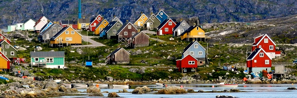 bright color houses