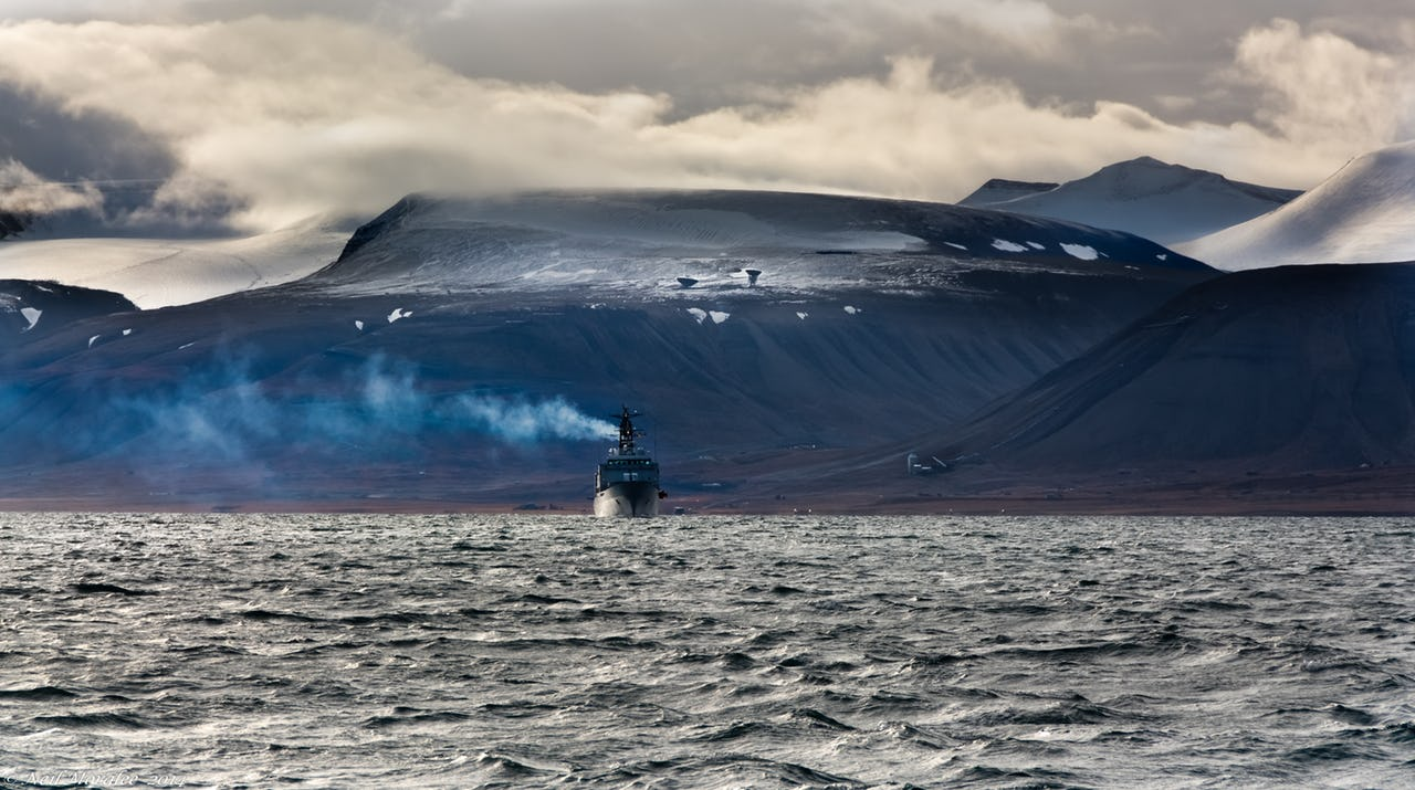 Coast guard vessels in waters around Svalbard