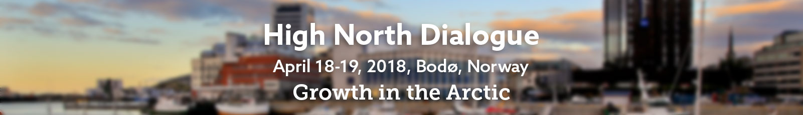 Promo image for High North Dialogue 2018